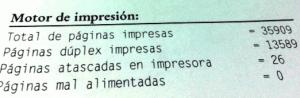 menu impresora