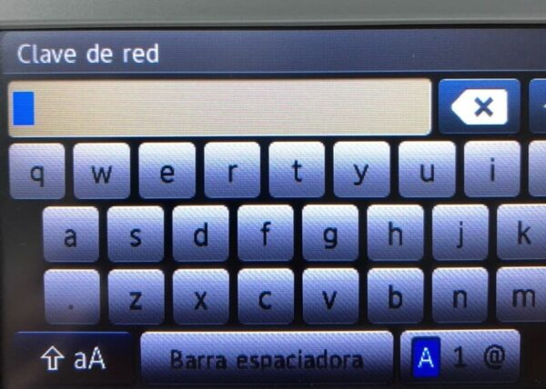Brother wifi.Clave de red