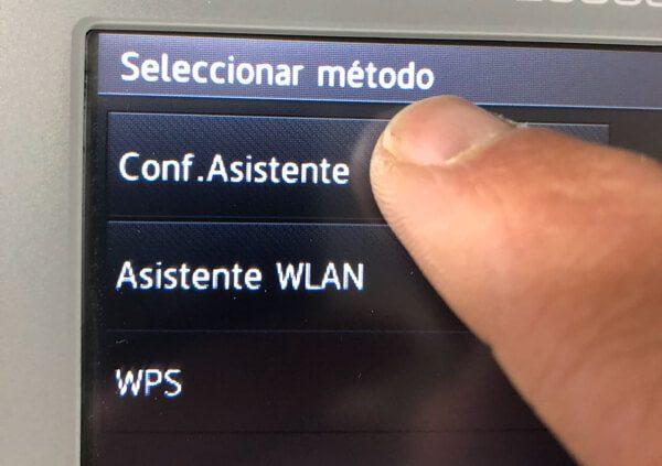 Comectar impresoras Brother WiFi.Conf.Asistente