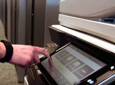 Impresora A3 panel de control