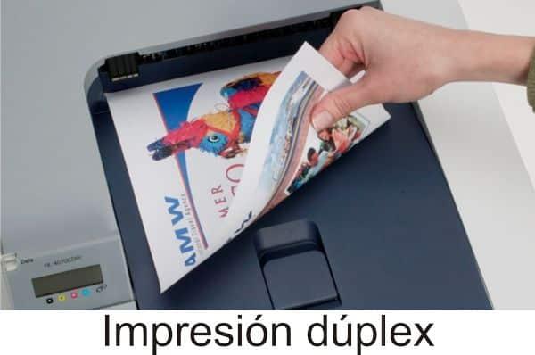 impresión duplex