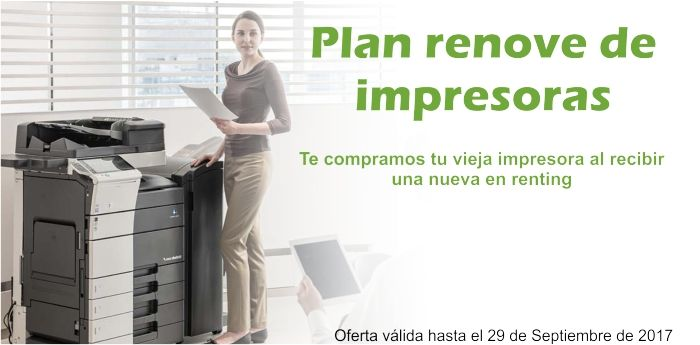 Plan renove renting impresoras