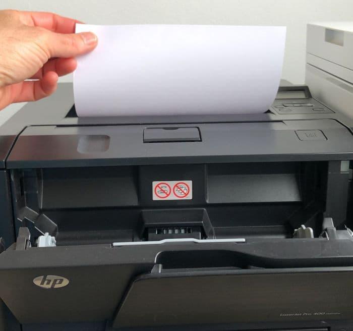 impresora imprime en blanco